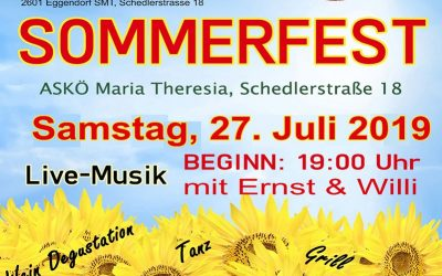 Sommerfest des ASKÖ Maria Theresia in Eggendorf am 27.07.2019